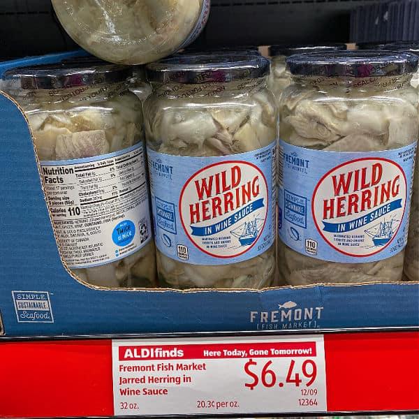 ALDI herring on the shelf