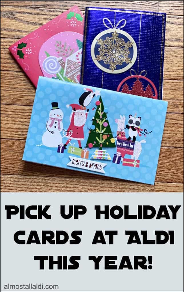 Pick up Christmas cards at ALDI
