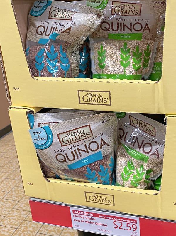 quinoa at aldi on the shelf