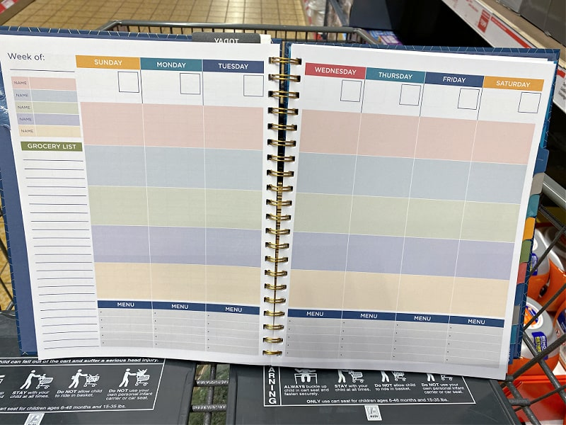 aldi specialty planner pages -- meal planning