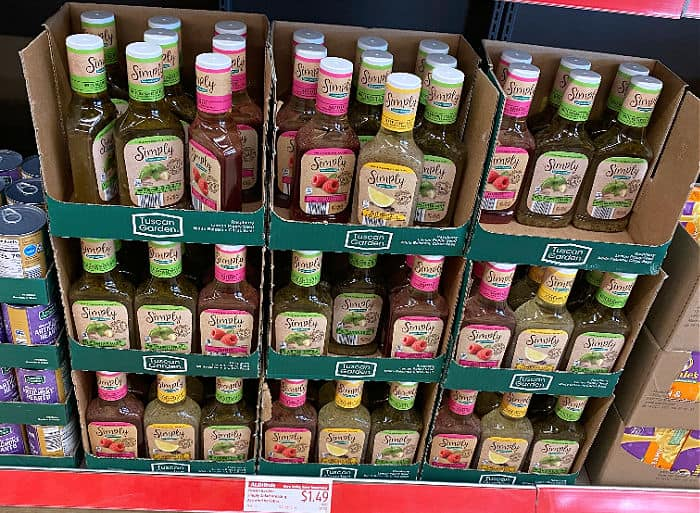 Simply dressings in this week's ALDI Finds