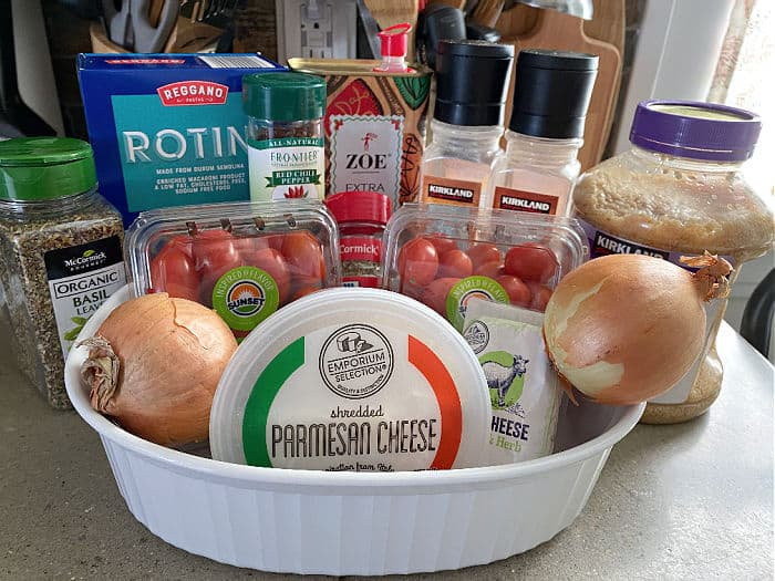 goat cheese and tomato pasta ingredients