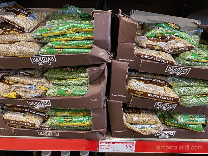 cheap lentils at aldi