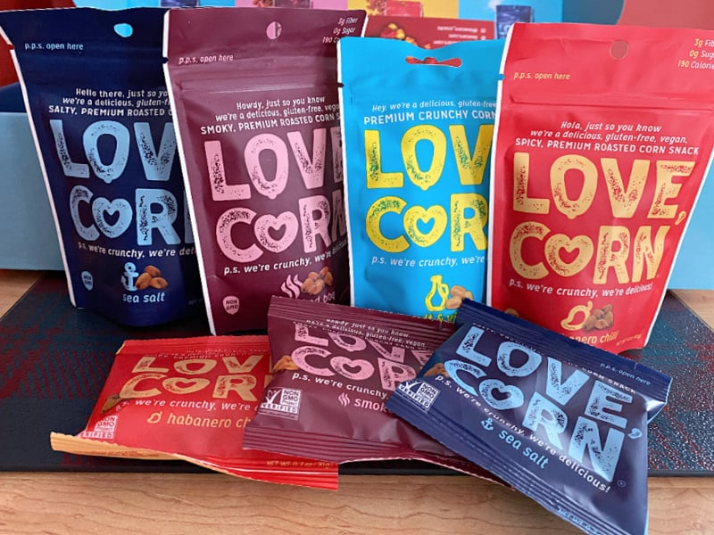 four different flavors of love corn