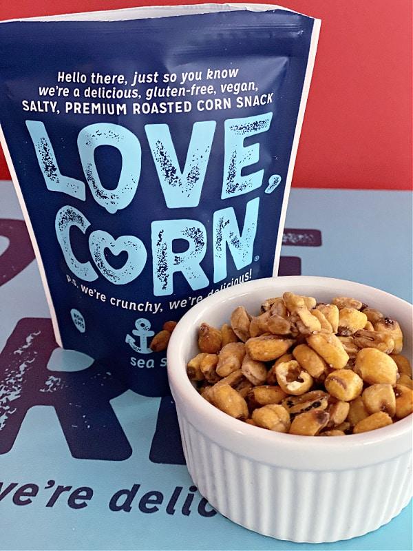 Sea salt love corn has three ingredients