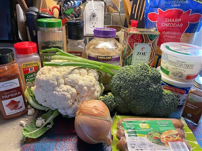 cauliflower sausage casserole ingredients