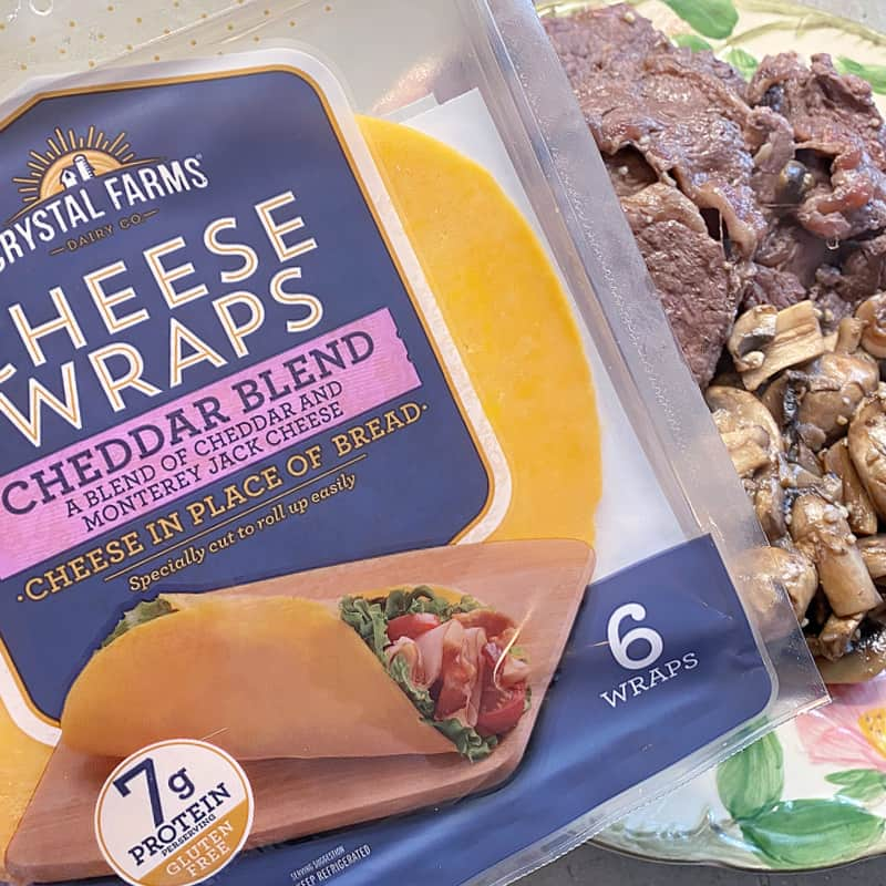 "Make quick ""cheese steaks"" with Crystal Farms Cheese Wraps"