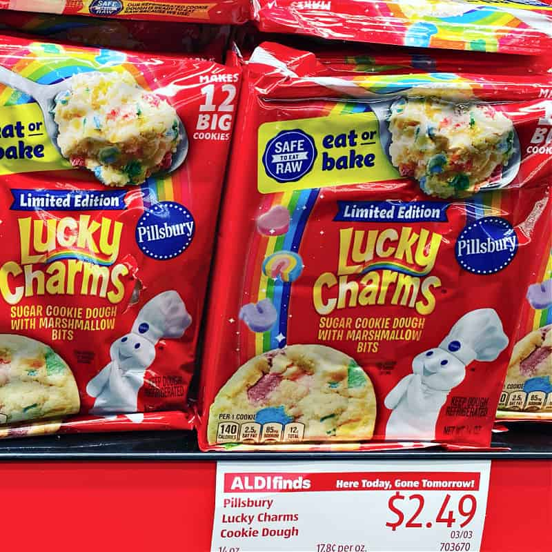 Lucky Charms cookie dough at ALDI