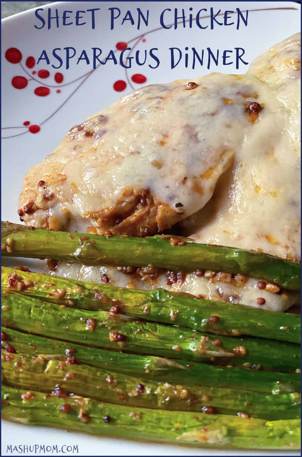 Sheet pan chicken asparagus dinner is an easy, keto friendly one pan weeknight meal.