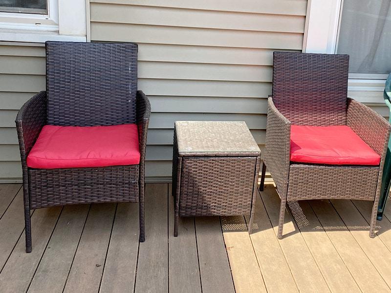 amazon wicker patio set