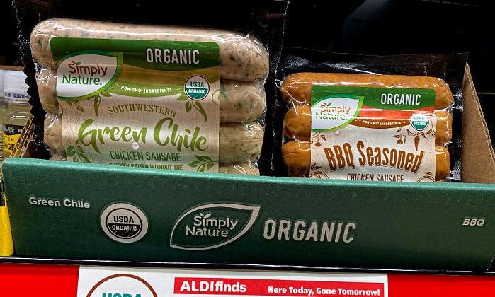 organic chicken sausage this week at ALDI