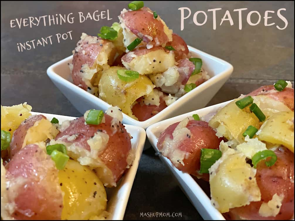 Everything Bagel Instant Pot Potatoes are deliciously creamy, delightfully easy, and dependably salty-good.