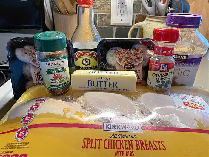 garlic soy roasted chicken and mushrooms ingredients