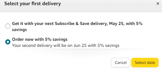 change your delivery date