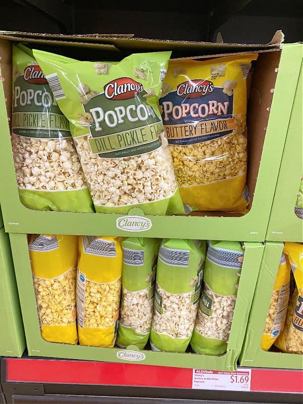 dill pickle popcorn at ALDI