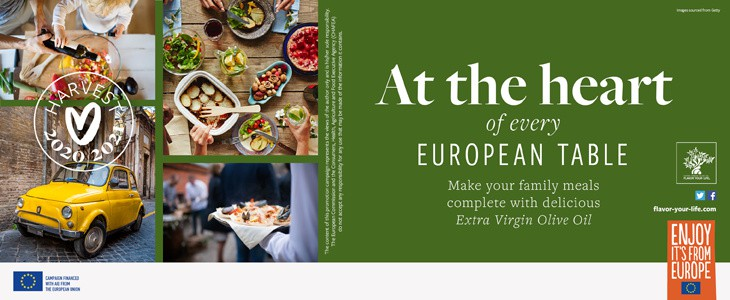 Extra Virgin Olive Oil from Europe is at the heart of your meals!