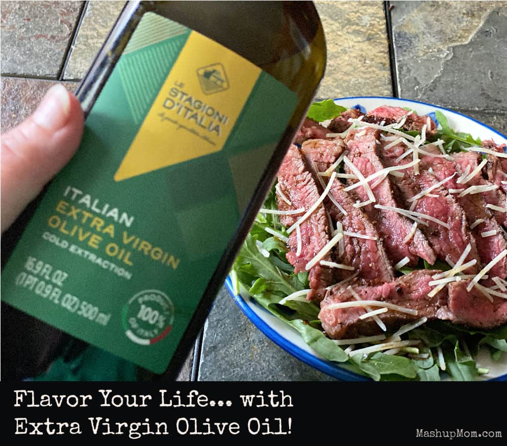 Flavor Your Life with Extra Virgin Olive Oil: Try this simple steak salad with arugula (beef tagliata)!