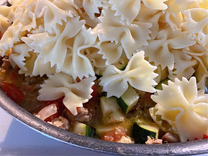 stir in the pasta