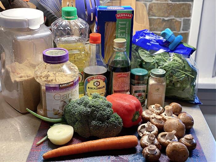 veggie lo mein ingredients