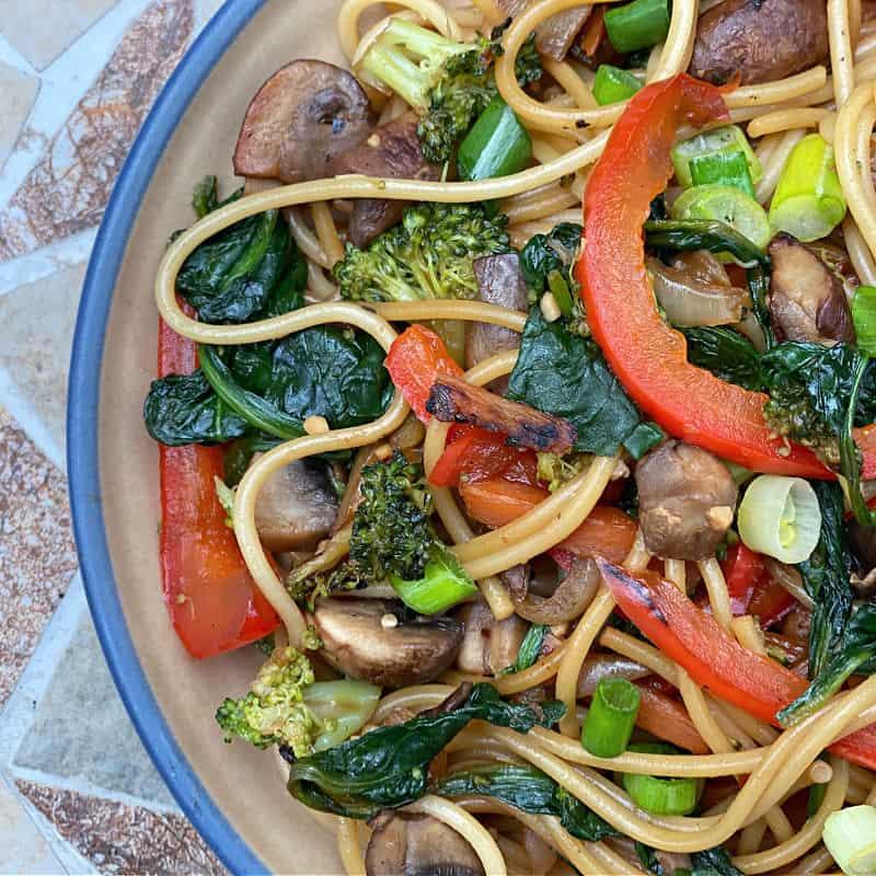 fresh vegetable lo mein