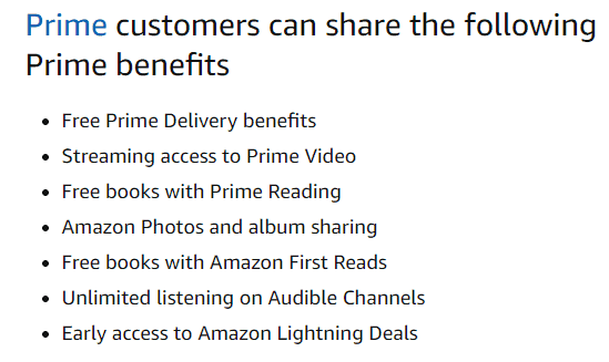 amazon household benefits
