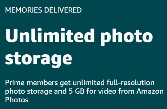unlimited amazon photo storage