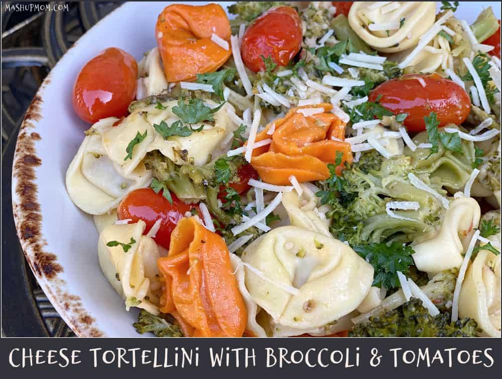 cheese tortellini in this week's free aldi meal plan