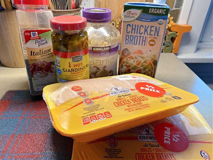crock-pot shredded chicken ingredients