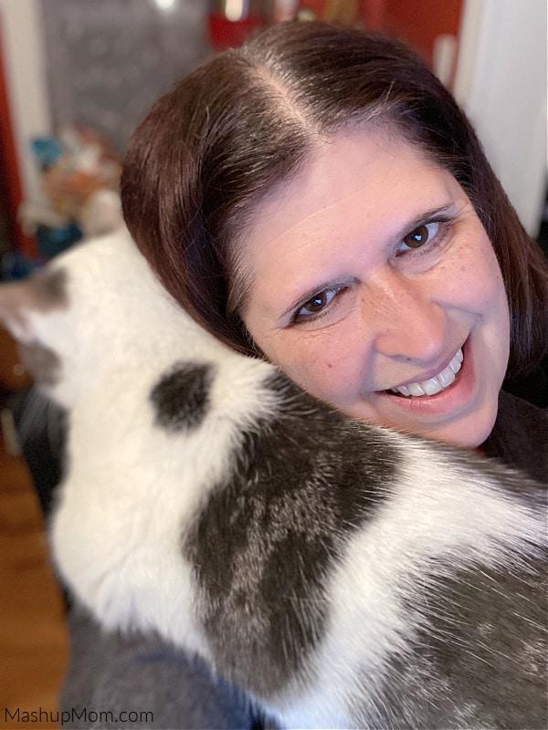 selfie hug with bad kitty lucy
