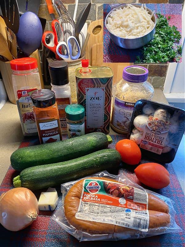 sausage zucchini skillet ingredients