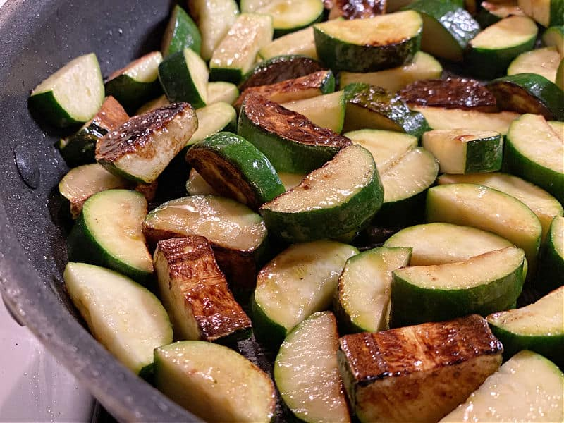 browned zucchini