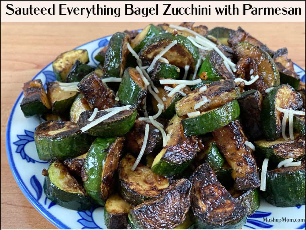 everything bagel zucchini in this week's ALDI meal plan