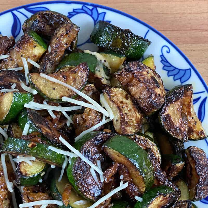 plate of tasty zucchini