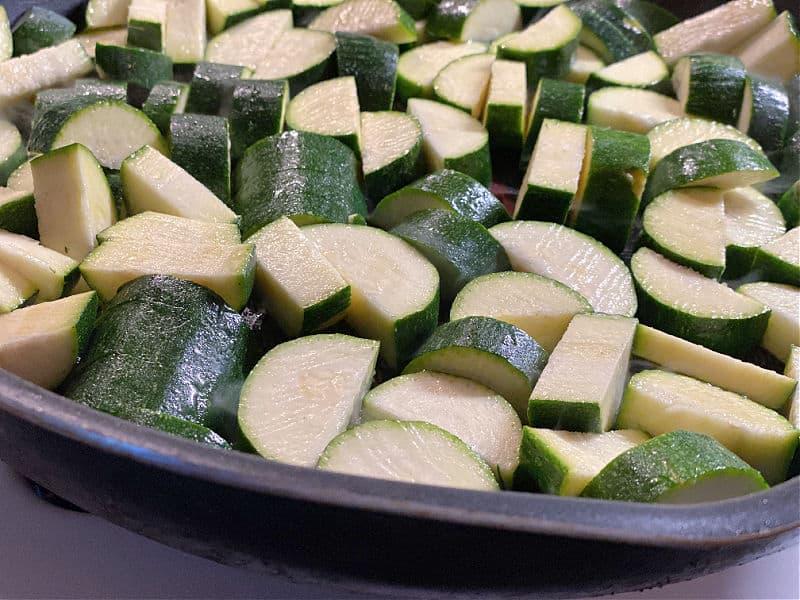 zucchini in the pan