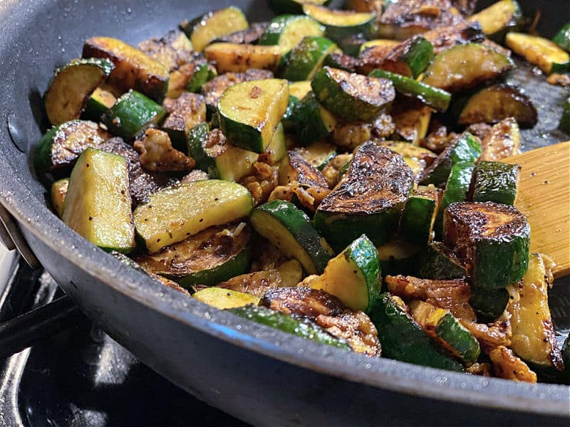 browned zucchini with parmesan
