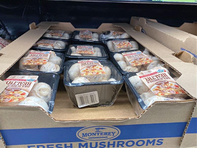 mushrooms at aldi