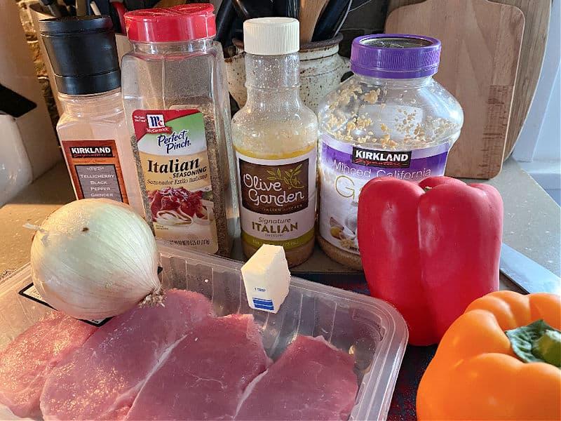 olive garden dressing pork chops ingredients