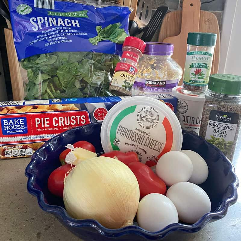 spinach quiche ingredients