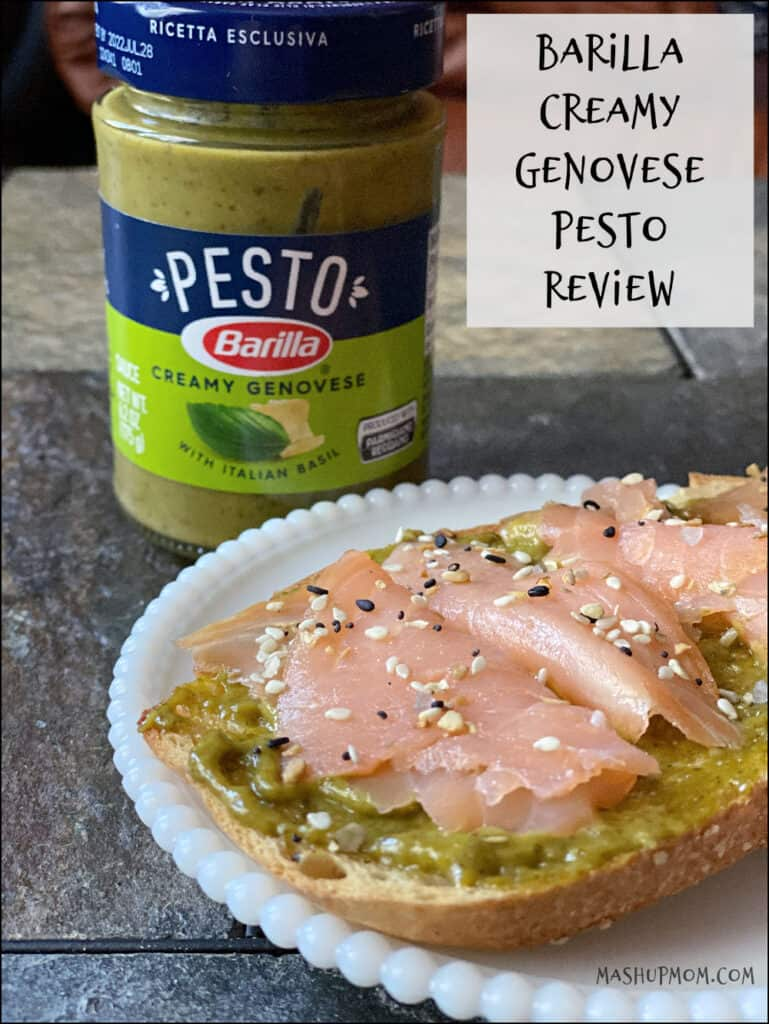 A Barilla Creamy Genovese Pesto review -- try it with lox on toast!