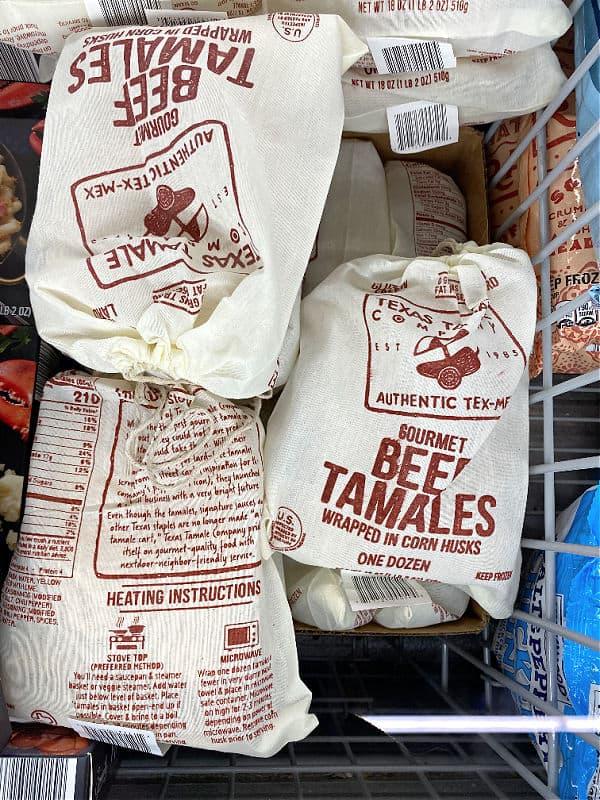 bags of beef tamales