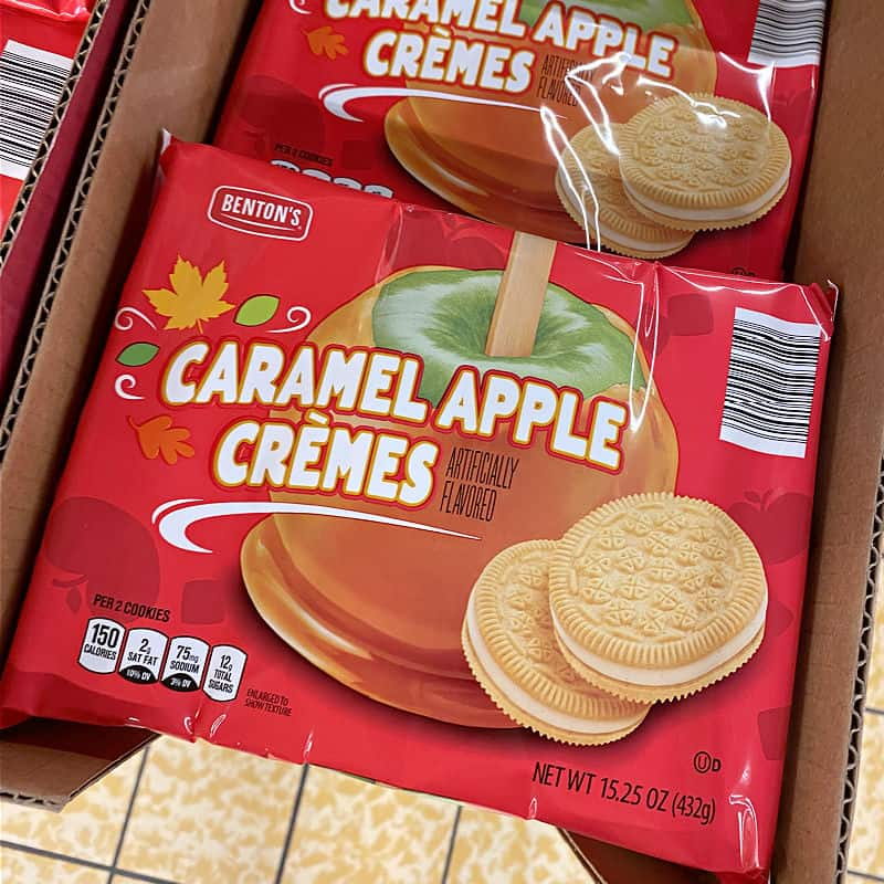 caramel apple cookies at aldi
