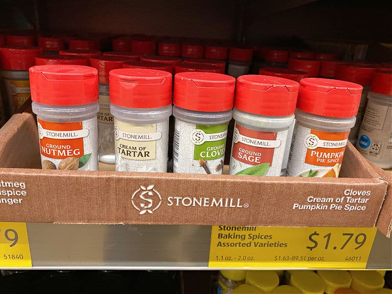 baking spices at aldi